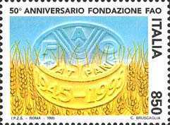 [The 50th Anniversary of FAO, Typ BUO]
