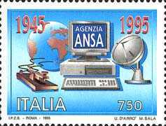 [The 50th Anniversary of Italian News Agency, Typ BUR]