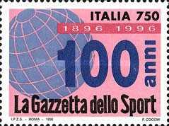 [The 50th Anniversary of the Press Federation - La Gazzetta dello Sport, Typ BVI]
