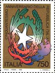 [The 50th Anniversary of the Italian Republic, Typ BVW]