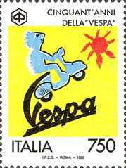 [The 50th Anniversary of the Production of Vespa Motor Scooters, Typ BVX]