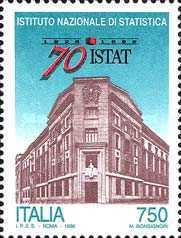 [The 70th Anniversary of the National Statistic Institute - ISTAT, Typ BXE]