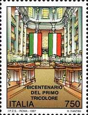 [The 200th Anniversary of the First Italian Tricolor, type BXG]