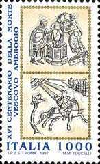 [The 1600th Anniversary of the Death of St. Ambrogio, type BXR]