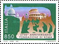 [The 2750th Anniversary of the Founding of Rome, type BXU]