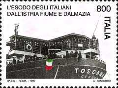 [The 50th Anniversary of the Italian Exodus of People from Istria, Fiume and Dalmatia, type BZU]
