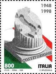 [The 50th Anniversary of the Italian Constitution, type BZW]