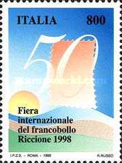 [The 50th Edition of the International Stamp Fair, Riccione, type CBK]
