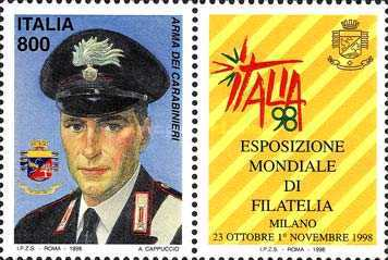 [World Stamp Exhibition, Milan - Armed Forces Day, type CBS]