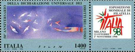 [World Stamp Exhibition, Milan - Rights of Man Day, type CCA]