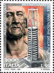 [The 200th Anniversary of the Invention of the Battery by Alessandro Volta, Typ CDW]