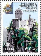 [The 1700th Anniversary of the Foundation of the Republic of San Marino, Typ CIP]