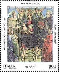 [The 500th Anniversary of the Painting Madonna with Child by d'Alba Macrinus, Typ CJN]