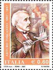 [The 50th Anniversary of the Death of Arturo Toscanini, Typ CYE]
