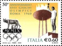 [The 50th Anniversary of the Olympic Games - Rome 1960, Typ DHP]