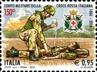 [The 150th Anniversary of The Military Corps of the Italian Red Cross, Typ EAT]