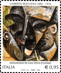[Paintings - The 100th Anniversary of the Death of Umberto Boccioni, 1882-1916, Typ EBN]