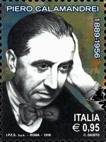 [The 60th Anniversary of the Death of Piero Calamandrei, 1889-1956, Typ EBS]