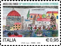 [Childrens Drawings - The 50th Anniversary of the 1966 Flood of Florence, Typ ECF]