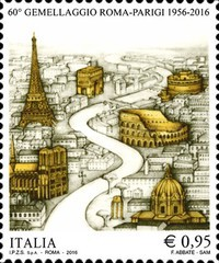 [The 60th Anniversary of the Paris-Rome Twin Towns Agreement, Typ ECP]