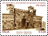 [The 350th Anniversary of the French Academy - Rome, Italy - Joint Issue with France, Typ ECQ]