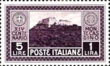 [The 1400th Anniversary of the Founding of the Abbey of Monte Cassino, Typ EE1]