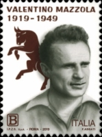 [Football Players - The 100th Anniversary of the Birth of Valentino Mazzola, 1919-1949, type EHM]