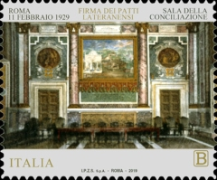 [The 90th Anniversary of the Lateran Treaty - Joint Issue with Vatican City, Typ EHN]