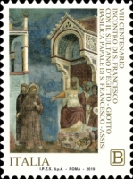 [Paintings - The 800th Anniversary of the Trial by Fire of St. Francis of Assisi before the Sultan of Egypt, Typ EHQ]