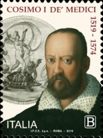 [The 500th Anniversary of the Birth of Cosimo I de' Medici, 1519-1574, Typ EIZ]