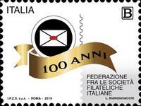 [The 100th Anniversary of the Federation of Italian Philatelic Societies, type EKW]