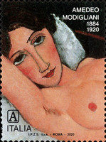 [The 100th Anniversary of the Death of Amedeo Modigliani, 1884-1920, type ELF]