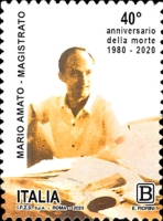 [The 40th Anniversary of the Death of Mario Amato, 1934-1980, type ELW]