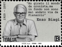 [The 100th Anniversary of the Birth of Enzo Biagi, 1920-2007, type EMH]