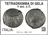 [Tetradramma of Gela, type EMM]