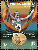 [The 40th Anniversary Since Winning the Gold Medal for the 200 Meter Track and Field at the Moscow Olympics by Pietro Mennea, 1952-2013, type ENX]