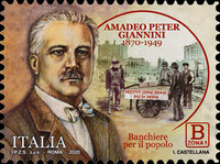 [The 150th Anniversary of the Birth of Amadeo Peter Giannini, 1870-1949, type EOL]