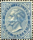 [king Victor Emmanuel II - New Colours, type F1]