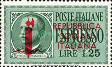 """[Express Stamps of 1932-1933 Overprinted """"REPUBBLICA - SOCIALE - ITALIANA"""", type GN2]"""