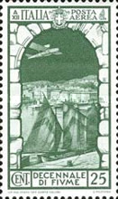 [Airmail - The 10th Anniversary of Annexation of Fiume, Typ IF]