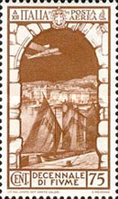 [Airmail - The 10th Anniversary of Annexation of Fiume, Typ IF1]
