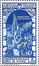[Airmail Express Stamps - The 10th Anniversary of Annexation of Fiume, Typ IJ]