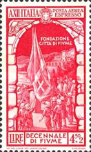 [Airmail Express Stamps - The 10th Anniversary of Annexation of Fiume, Typ IJ2]