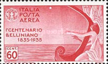 [Airmail - The 100th Anniversary of the Death of Bellini, Typ JY2]