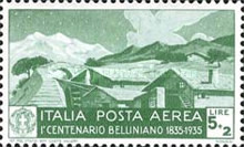 [Airmail - The 100th Anniversary of the Death of Bellini, Typ KA]