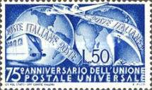 [The 75th Anniversary of the Universal Postal Union, Typ QD]