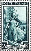 [Italy at Work - Stamp of 1950 with New Watermark, Typ RO3]