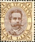 [King Umberto I - New Drawing, Value in Corners, Typ U]