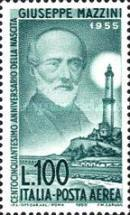 [Airmail - The 150th Anniversary of the Birth of Mazzini, Typ VE]
