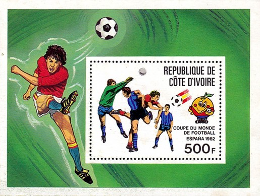 [Football World Cup - Spain - Overprinted